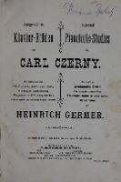 Ausgewahlte Klavier-Etuden von Carl Czerny - Germer, Heinrich