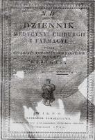 Dziennik Medycyny, Chirurgii i Farmacyi, 1822