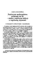 Patriotyzm społeczeństwa polskiego lat 90. - między wspólnotą kultury a wspólnotą obywateli - Kurczewska, Joanna