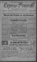 Express Pomorski : pismo niezależne i bezpartyjne 1925.01.03, R. 2, nr 3