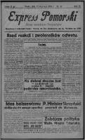Express Pomorski : pismo niezależne i bezpartyjne 1925.01.21, R. 2, nr 21