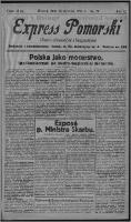Express Pomorski : pismo niezależne i bezpartyjne 1925.01.20, R. 2, nr 20