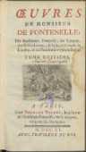 Œuvres De Monsieur De Fontenelle [...]. T. 8. - Fontenelle, Bernard le Bovier de (1657-1757)