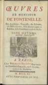 Œuvres De Monsieur De Fontenelle [...]. T. 7. - Fontenelle, Bernard le Bovier de (1657-1757)