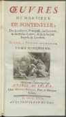 Œuvres De Monsieur De Fontenelle [...]. T. 5. Nouvelle Edition Augmentee. - Fontenelle, Bernard le Bovier de (1657-1757)