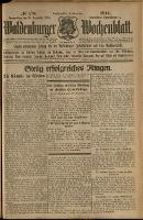 Waldenburger Wochenblatt, Jg. 60, 1914, nr 170