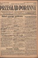 Przegląd Poranny: pismo niezależne i bezpartyjne 1922.08.01 R.2 Nr201