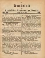 Amtsblatt der Königlichen Regierung zu Liegnitz, 1890, Jg. 80, Nr. 12