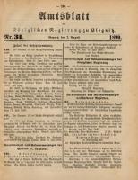 Amtsblatt der Königlichen Regierung zu Liegnitz, 1890, Jg. 80, Nr. 31