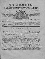 Tygodnik Rolniczo-Technologiczny. T.4. 1838. Nr 27
