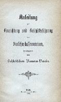 Anleitung zur Einrichtung und Geschäftsführung von Darlehnskassenvereinen