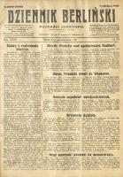 Dziennik Berliński, 1928, R. 32, nr 231