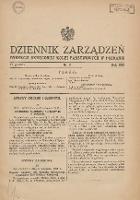 Dziennik Zarządzeń Dyrekcji Okręgowej Kolei Państwowych w Poznaniu. 1934.12.17 Nr6 - Polskie Koleje Państwowe