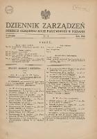 Dziennik Zarządzeń Dyrekcji Okręgowej Kolei Państwowych w Poznaniu. 1934.08.03 Nr4 - Polskie Koleje Państwowe
