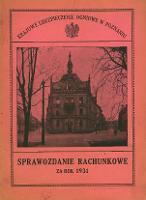 Sprawozdanie rachunkowe za rok 1931. - Krajowe Ubezpieczenie Ogniowe w Poznaniu