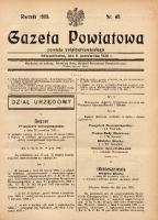 Gazeta Powiatowa Powiatu Świętochłowickiego, 1935, nr 40