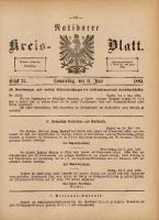 Ratiborer Kreis-Blatt, 1885, Stück 24