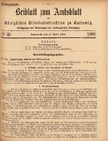 Beiblatt zum Amtsblatt der Königlischen Eisenbahndirektion zu Kattowitz, 1909, nr20