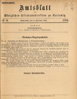 Amtsblatt der Königlichen Eisenbahndirektion zu Kattowitz, 1916, nr8