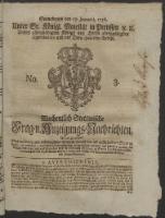 Wochentlich-Stettinische Frag- und Anzeigungs-Nachrichten. 1756 No. 3 + Anhang