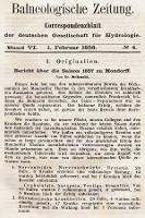 Balneologische Zeitung : Correspondenzblatt der deutschen Gesellschaft für Hydrologie. Bd. 6, 1858, nr4