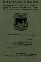 Polonia Sacra : wydawnictwo naukowe Towarzystwa im. Papieża Benedykta XV-go. 1918, nr 2