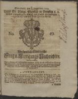 Wochentlich-Stettinische Frag- und Anzeigungs-Nachrichten. 1759 No. 49 + Anhang