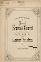 Grand scherzo de concert : pour piano : op. 35 - Żeleński, Władysław (1837-1921)