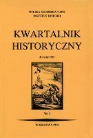 Kwartalnik Historyczny R. 103 nr 2 (1996), Strony tytułowe, spis treści