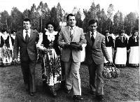 Święto Ziemniaka w Mońkach. 1978 rok. Gospodarze Święta Ziemniaka. - Sieńko, Roman