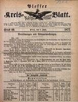 Plesser Kreis-Blatt, 1877, St. 22