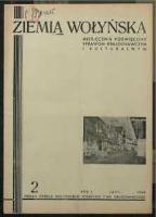 Ziemia Wołyńska : miesięcznik poświęcony sprawom krajoznawczym i kulturalnym : organ Okręgu Wołyńskiego Polskiego T-wa Krajoznawczego. R. 1, 1938 nr 2 (luty)