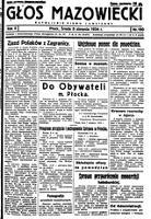 Głos Mazowiecki : katolickie pismo codzienne. R. 2, 1934 nr 180 (8 VIII)