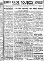 """Głos Mazowiecki Rolniczy : tygodniowy dodatek do dziennika """"Głos Mazowiecki"""". R. 3, 1935 nr 11 (22 III)"""