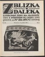 """Z Blizka i z Daleka : ilustrowane pismo dla młodzieży z dodatkiem dla dzieci pt. """"W Słońcu"""". R. 1, 1913 nr 13 (27 XII)"""