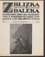 """Z Blizka i z Daleka : ilustrowane pismo dla młodzieży z dodatkiem dla dzieci pt. """"W Słońcu"""". R. 2, 1914 nr 2 (10 I)"""