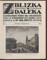 """Z Blizka i z Daleka : ilustrowane pismo dla młodzieży z dodatkiem dla dzieci pt. """"W Słońcu"""". R. 1, 1913 nr 9 (6 XII)"""