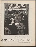 """Z Blizka i z Daleka : ilustrowane pismo dla młodzieży z dodatkiem dla dzieci pt. """"W Słońcu"""". R. 1, 1913 nr 11/12 (20 XII)"""