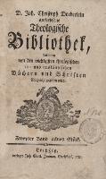 D. Joh. Christoph Doederlein auserlesene Theologische Bibliothek... Zweyter Band, achtes Stück - Döderlein, Johann Christoph (1745-1792)