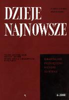Dzieje Najnowsze : [kwartalnik poświęcony historii XX wieku] R. 32 z. 4 (2000), Strony tytułowe, spis treści