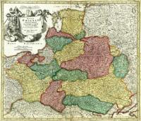 Regni Poloniæ Magnique Ducatus Lithuaniæ : Nova et exacta tabula ad mentem Starovolcij descripta - Homann, Johann Baptist (1664-1724)