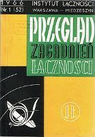 Radiokomunikacja ruchoma. Przegląd Zagadnień Łączności, 1966, nr 1 (52) - Derski, J.