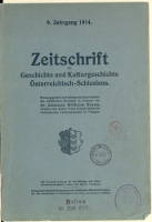 Zeitschrift für Geschichte und Kulturgeschichte Österreichisch-Schlesiens, 1914