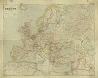 Handkarte von Europa