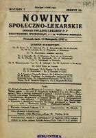 Nowiny Społeczno-Lekarskie 1927 R.1 nr 16