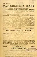 Zagadnienia Rasy z Punktu Widzenia Zdrowia Społecznego 1928 R.10 t.4 nr 4