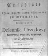 Amtsblatt der Königlichen Preussischen Regierung zu Bromberg. 1837.01.06 No.1