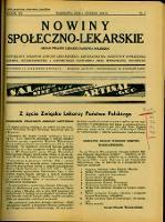 Nowiny Społeczno-Lekarskie 1934 R.8 nr 1