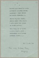 [Inc.] Dzisiaj jest dzień bez ciała […] - Baczyński, Krzysztof Kamil (1921-1944)
