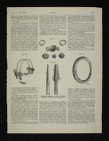 [Biżuteria, fragmenty naczyń oraz groty strzał z wykopalisk archeologicznych].